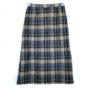 Cobblestone For The Limited Wool Plaid Skirt